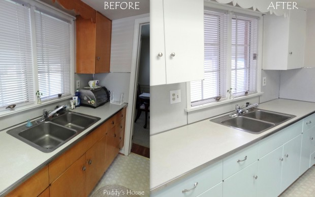 staging kitchen cabinets
