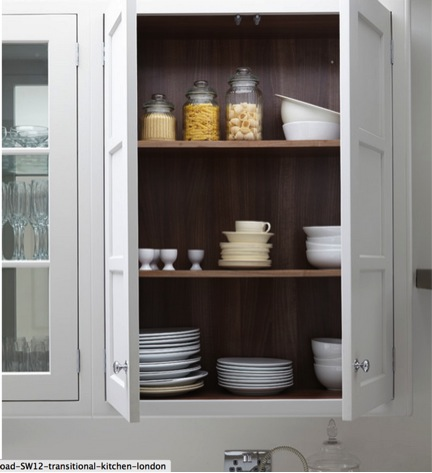 staging kitchen cabinets a